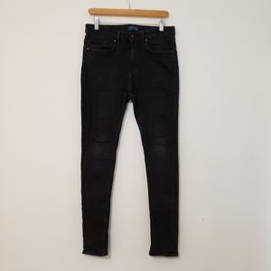 Zara Man Black Skinny Slim Jeans Size 30 Stretch